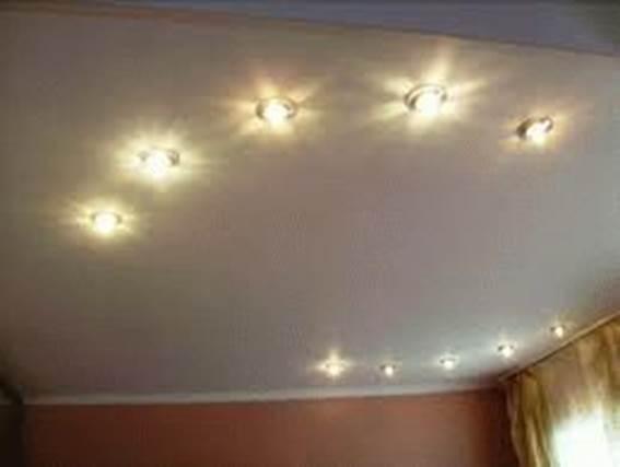 Как сделать точечные светильники на потолок 379