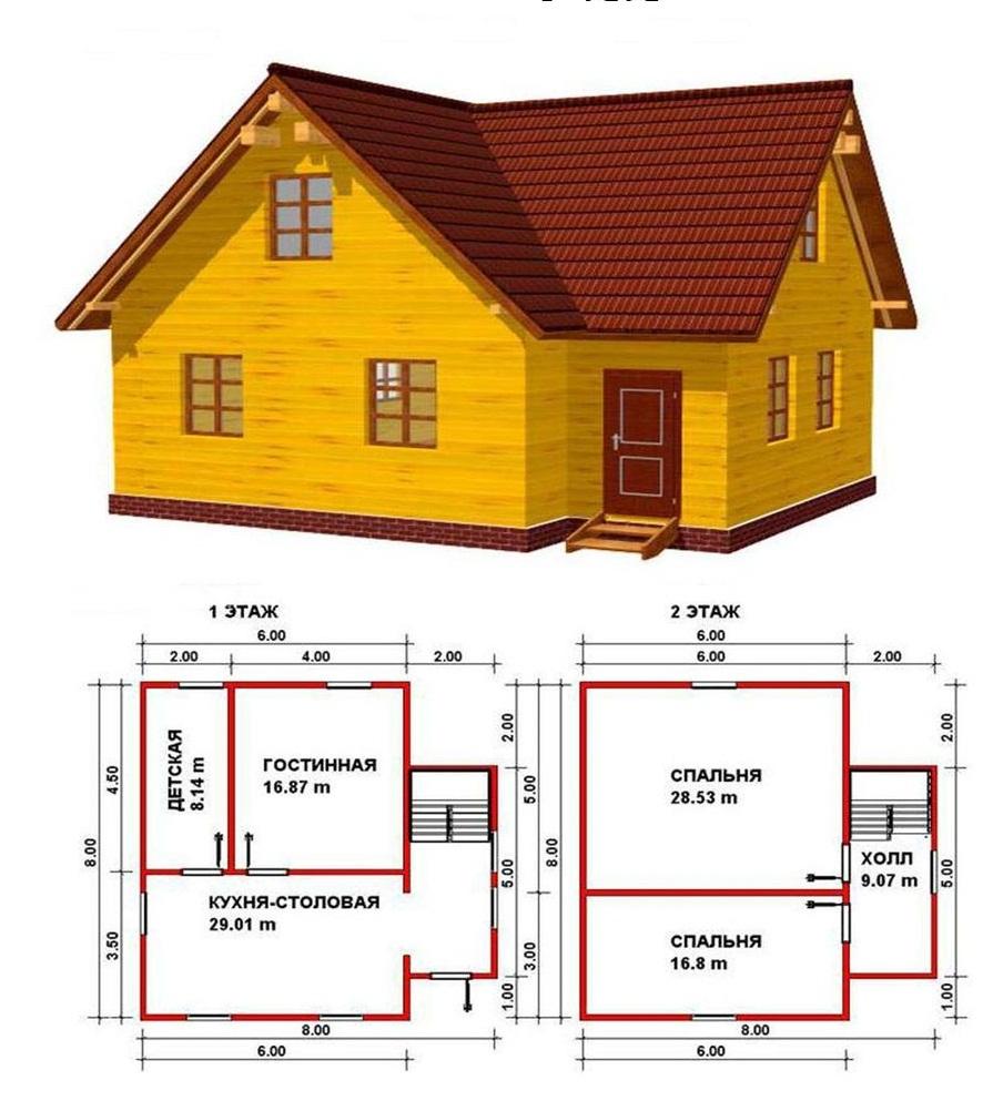 Построить дом 10 на 10
