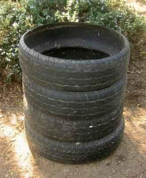 Как сделать емкость из шин