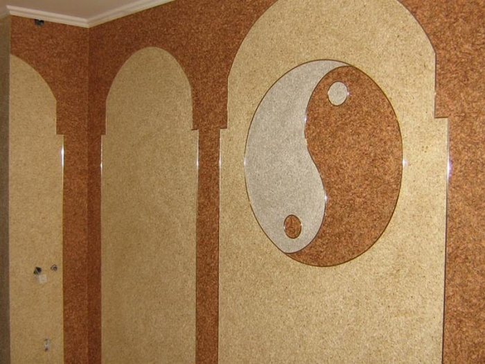 Жидкие обои силк пластер как их наносить на стену 4