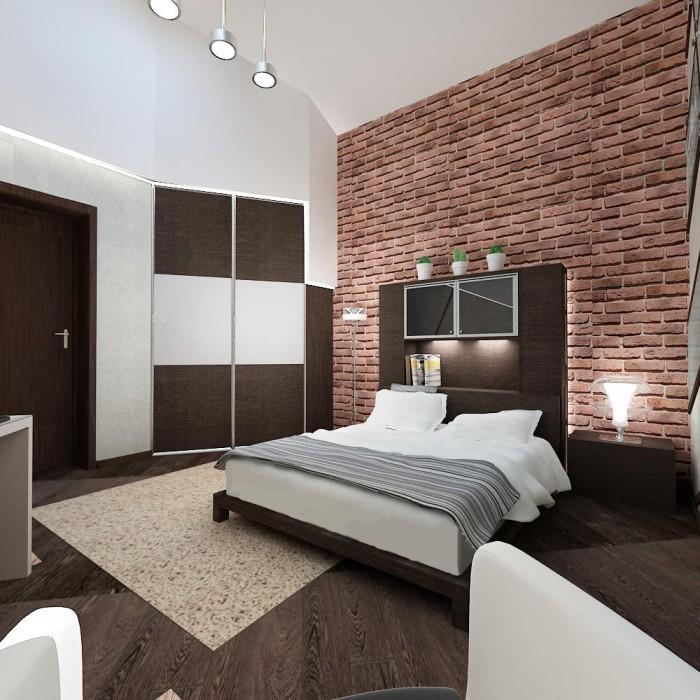 Спальня в стиле лофт дизайн фото спальни