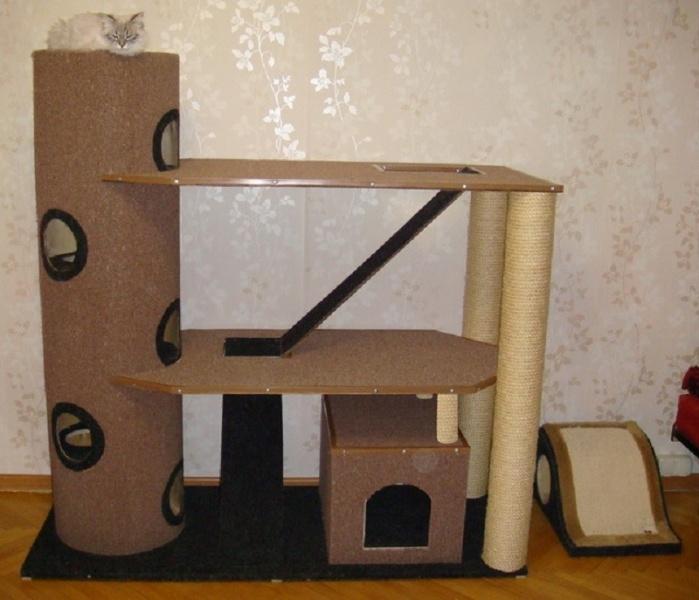 Как сделать домик для кошки своими руками фото и видео