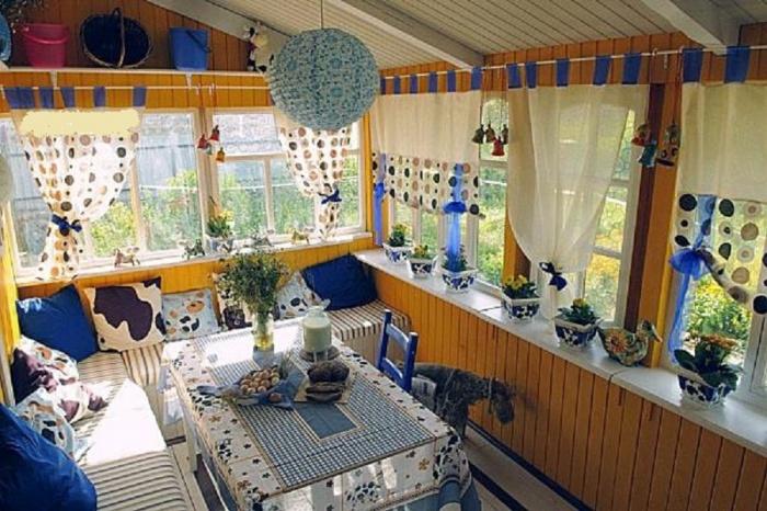 Дизайн летней веранды на даче