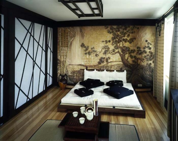 Soveværelse i japansk stil foto