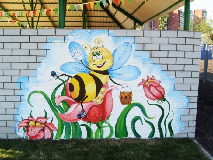 Рисунки для стен на улице своими руками 610