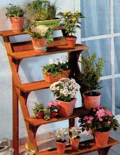 этажерки для цветов на балконе фото