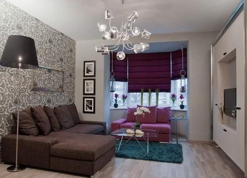 фото комната с разными обоями