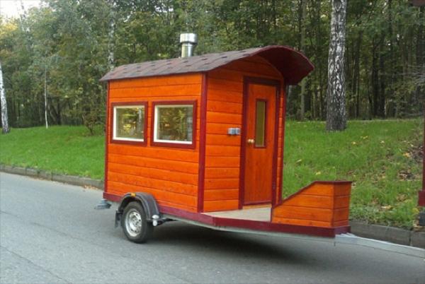 Передвижная баня на колесах