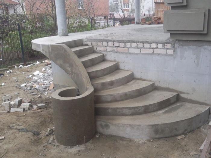 Ступени крыльцо бетоном своими руками
