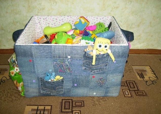 Как украсить коробку для игрушек 44