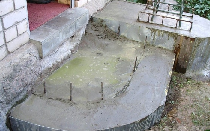 Как сделать полукруг из бетона 354