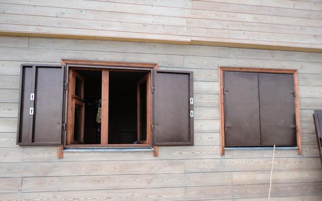 Металлические ставни на окна своим руками
