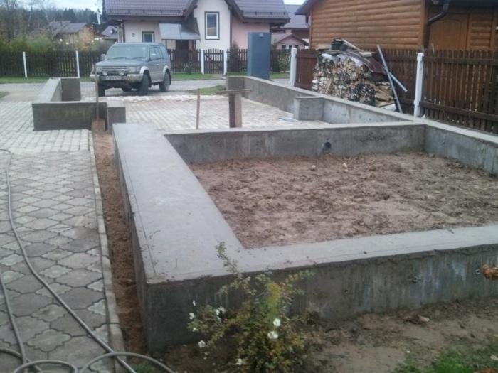Как правильно сделать фундамент для гаража 309