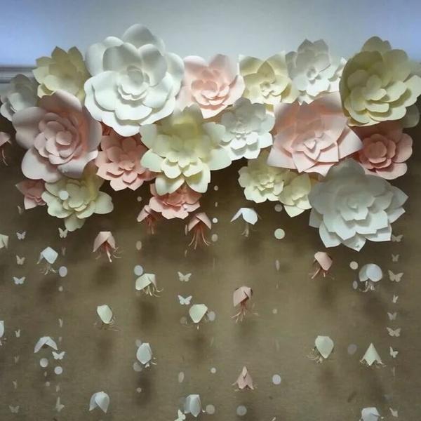Свадебное оформление бумажными цветами (50 фото) 58