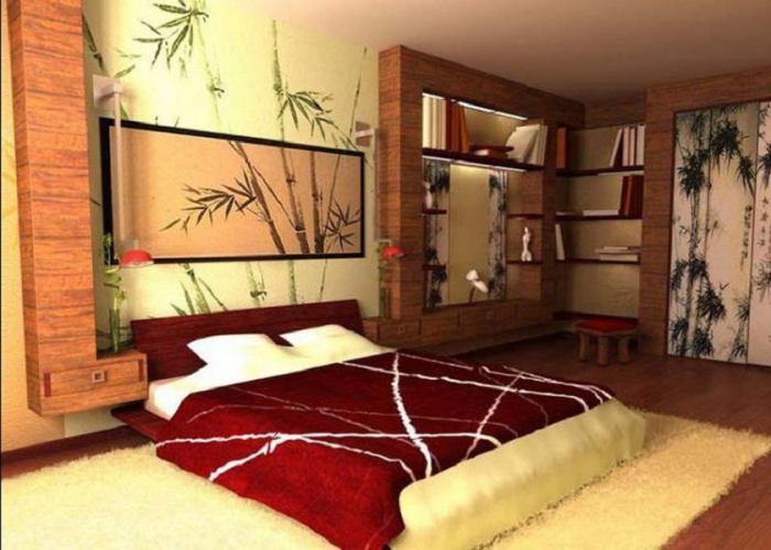 Китайский дизайн спальни