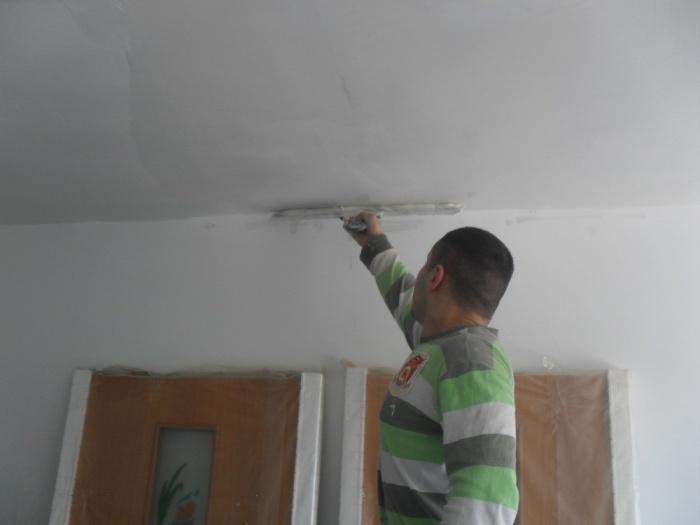 Шпаклёвка потолка под покраску своими руками 876
