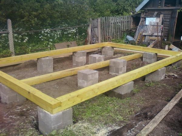 Фундамент для бани из газобетона своими руками