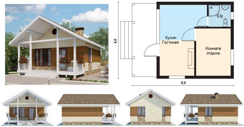 Все виды дачных домов