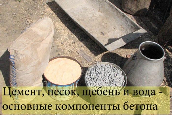 Как сделать цементную смесь для заливки