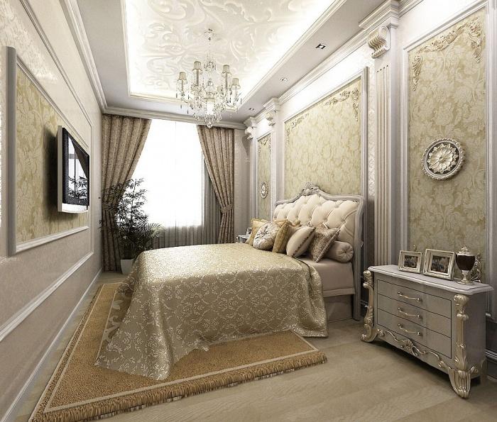 Дизайн спальни фото классический стиль