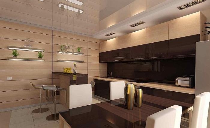 Отделка стен на кухне варианты отделочного материала