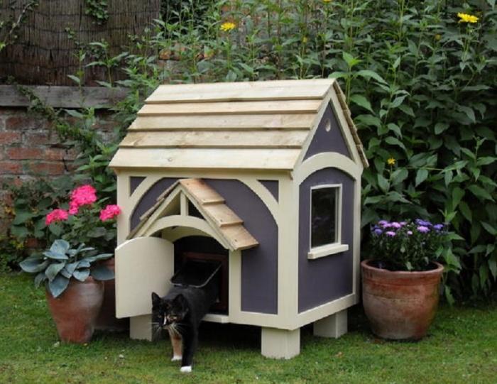 Дом для кошки на улицу своими руками