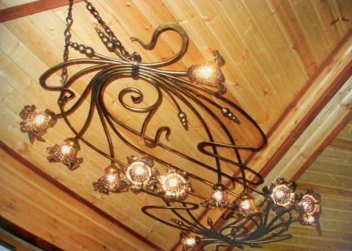 Кованые светильники под старину