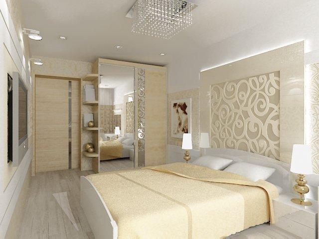 Спальня в светлых тонах интерьер фото