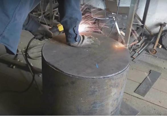 Металлическая печь своими руками