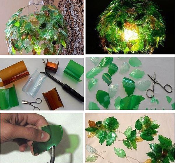 Светильник из пластиковых бутылок своими руками пошагово