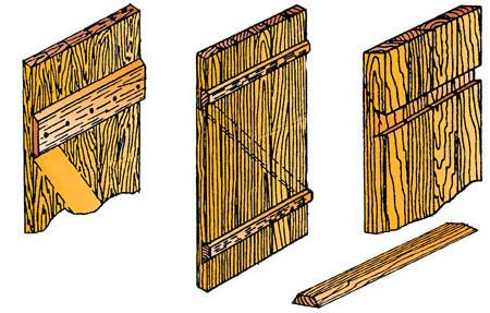 Как сделать дверь из досок самостоятельно