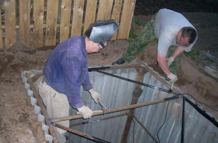 Картофельная яма своими руками фото