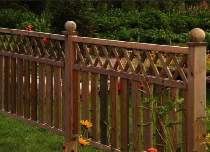 Красивый забор из штакетника своими руками фото