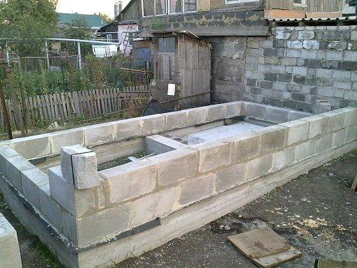 Строительство бани из пеноблоков своими руками видео