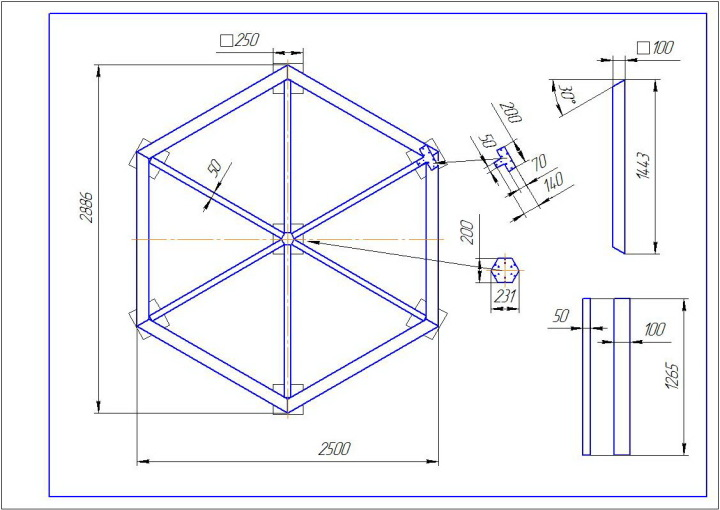 Беседка шестигранная своими руками чертежи и размеры фото 648