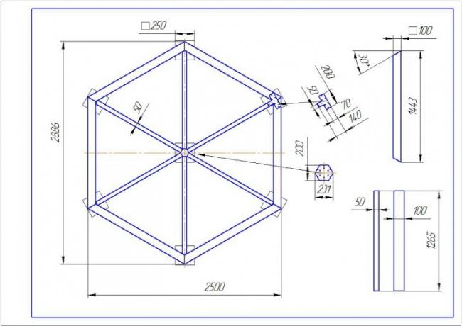 Чертежи шестиугольной беседки своими руками фото 325