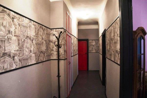 Дизайн обоев в коридоре фото