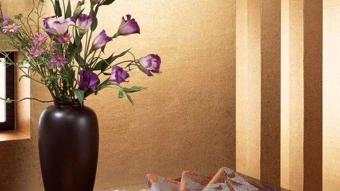 tapete mit gro en blumen f r die wand. Black Bedroom Furniture Sets. Home Design Ideas