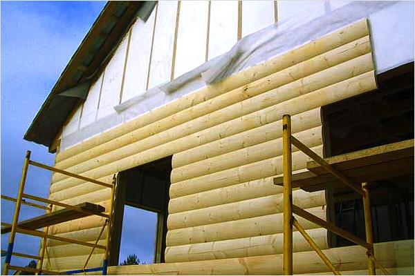Блок-хаус для наружной отделки бани из газобетона
