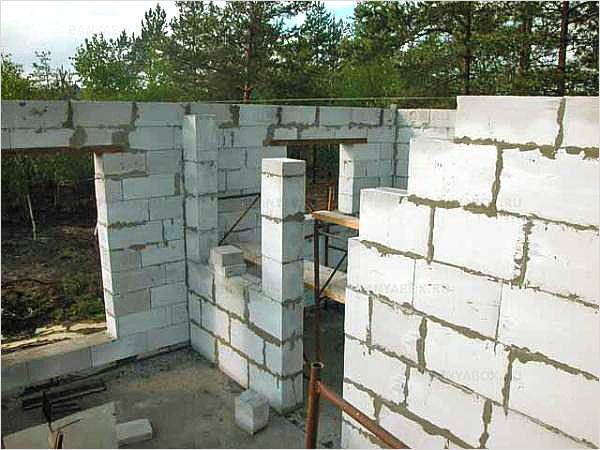 Строительство стен из газоблоков