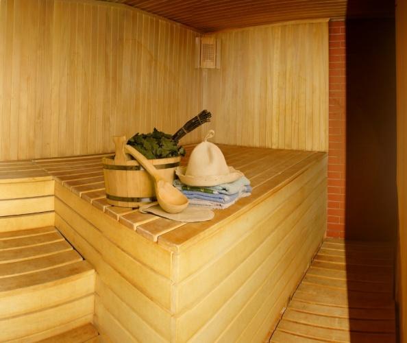фото оформление внутри бани