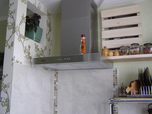 установка панели над духовым шкафом