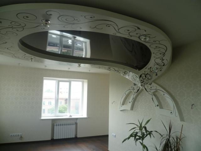 как ремонтировать натяжные потолки