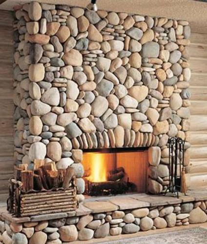 красивая каменная печь