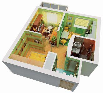 Дизайн квартиры хрущевки - dizaynsamru