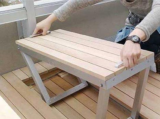 сборная мебель для балкона