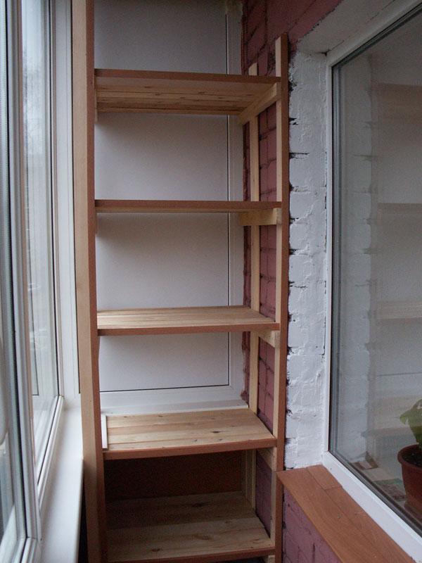 Как сделать шкаф на балкон самим